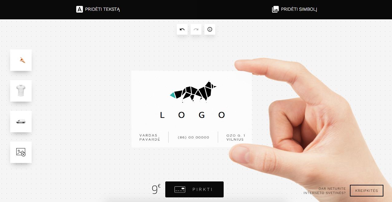 logotipų kūrimas su programa Denovo Logo